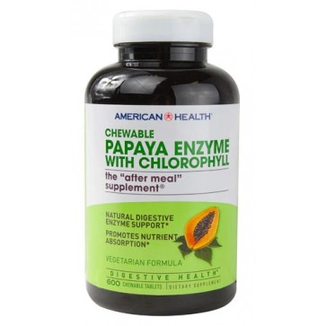American Health Papaya Enzyme Chloro 600 tablets