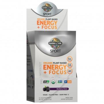 Garden of Life Sport Organic Pre-Workout Energy plus Focus Blackberry 12 Packets