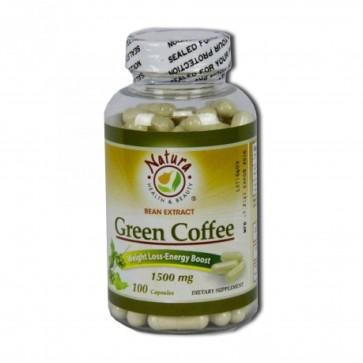 Natura Health & Beauty Green Coffee Bean Extract 1500 MG 100 Capsules