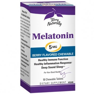 Terry Naturally Melatonin 5 mg 50 Chewable Tablets