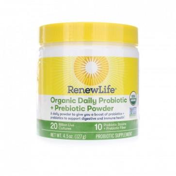 Renew Life Organic Daily Probiotic + Prebiotic 20 Billion 4.5 oz