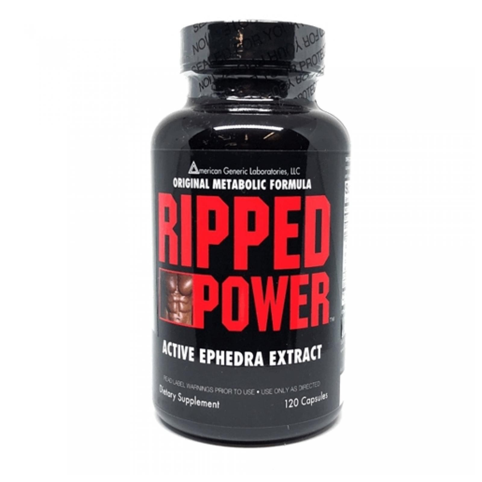 Ripped Power with Ephedra Extract- 120 Capsules
