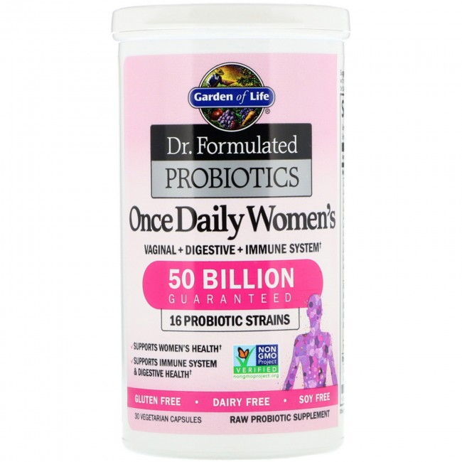 Dr formulated probiotic once daily womens 50 billion - Garden of life once daily women s probiotic ...