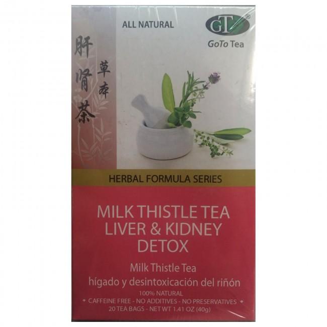 Goto Tea Milk Thistle Liver Kidney Detox 20 Bags