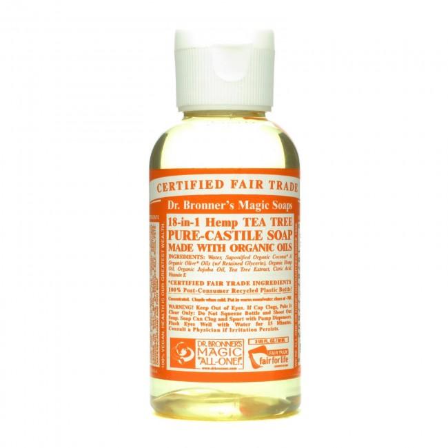 Dr  Bronner's Pure Castile Liquid Organic Soap Tea Tree 2 oz