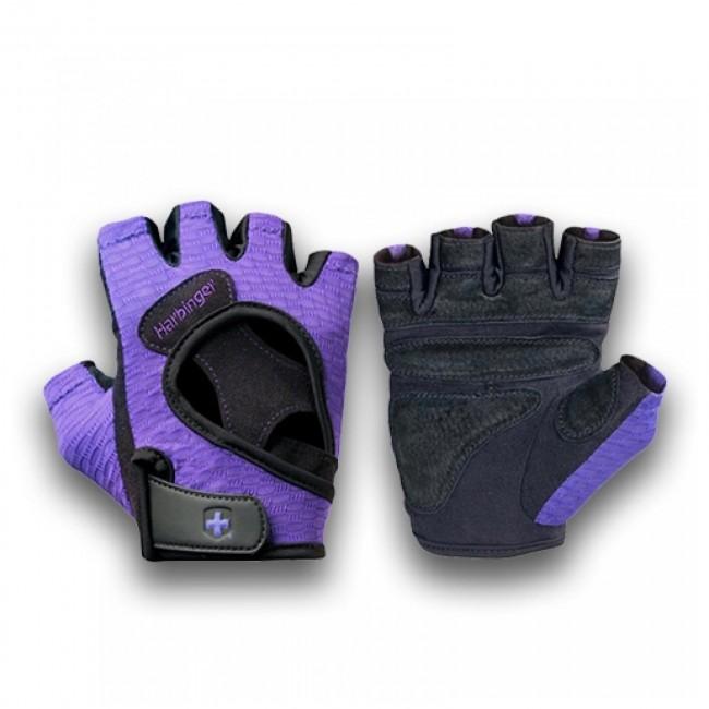 Harbinger Womens Wristwrap Gloves: Harbinger Womens FlexFit Gloves Black/Purple