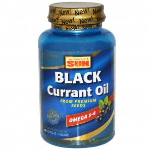 Health From the Sun Black Currant Oil 1000 mg 60 Softgels
