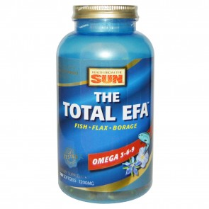 Health From The Sun- The Total EFA  Omega 3-6-9- 180 Softgels