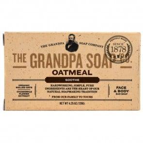 Grandpa's, Face & Body Bar Soap, Soothe, Oatmeal, 4.25 oz (120 g)