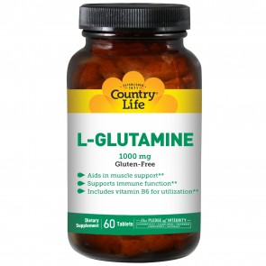 Country Life L-Glutamine with B-6 1000 mg 60 Tablets