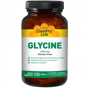 Country Life Glycine 500 mg 100 Tablets