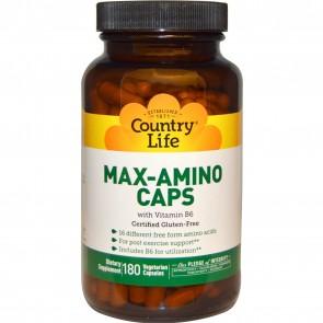Country Life Max-Amino 180 Vegetarian Capsules