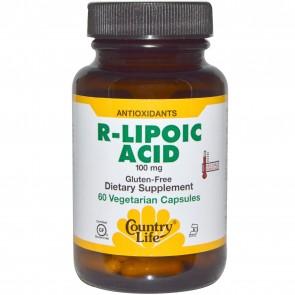 Country Life Gluten Free R-Lipoic Acid 100 mg 60 Veggie Capsules