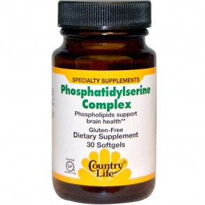 Country Life Phosphatidylserine Complex 500 mg Neuro-PS (sg), 30-Count.