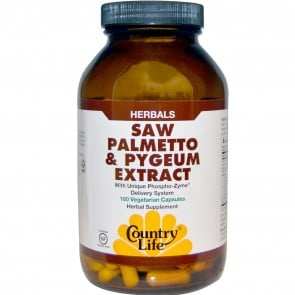 Country Life Saw Palmetto and Pygeum Extract 180 Veggie Caps