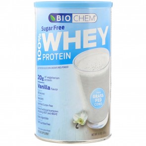 Biochem by Country Life- 100% Whey Protein Sugar Free, Vanilla 13.7 oz