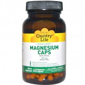 Country Life Target-Mins Magnesium Caps 300 mg 60 Veggie Capsules