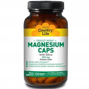 Country Life Target-Mins Magnesium Caps 300 mg 120 Veggie Caps