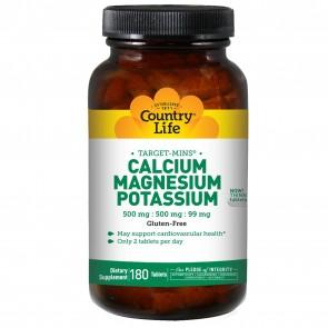 Country Life Target-Mins Calcium-Magnesium Potassium- 180 Tablets