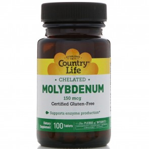 Country Life Chelated Molybdenum 100 Tablets