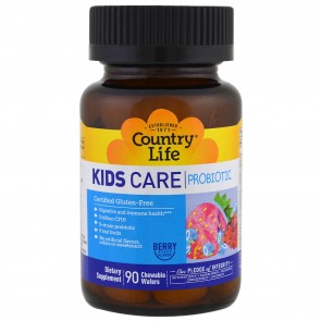Country of Life Kids Care Probiotic Berry Flavor 90 Chewable Wafers