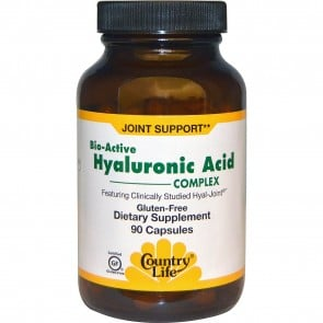 Country Life - Bio-Active Hyaluronic Acid Complex- 90 Veg Caps
