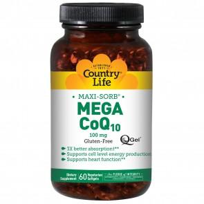Country Life- Maxi-Sorb Coenzyme Mega CoQ10 (100mg) 60 Softgels