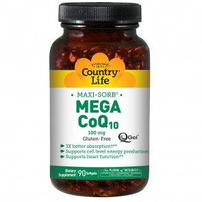 Country Life- Mega CoQ10 (100 mg) 90 Softgels