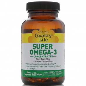 Country Life Super Omega-3 Concentrated 60 Softgels