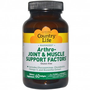 Country Life- Arthro-Joint & Muscle Support Factors Maximised- 60 Softgels