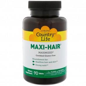 Maxi-Hair 90tb nourish hair, nails and skin - Country Life