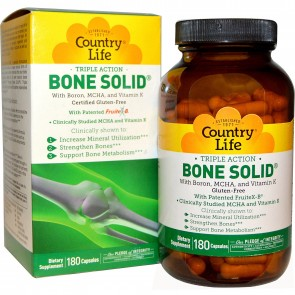 Country Life Bone Solid 180 Capsules