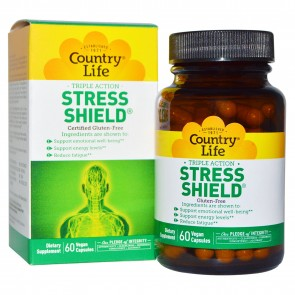 Country Life Gluten Free Stress Shield Triple Action 60 Vegan Capsules