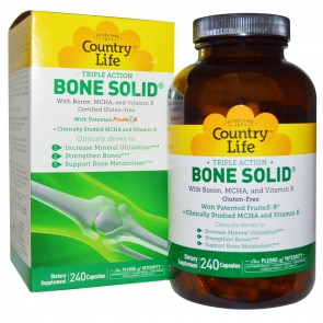 Country Life Triple Action Bone Solid Bone Strengthener 240 Capsules