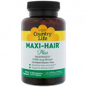 Country Life Maxi Hair Maximized 120 Vegetarian Capsules