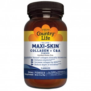 Country Life Maxi-Skin Collagen + C & A Powder Flavorless 2.74 oz