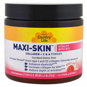 Country Life Maxi-Skin Vitality with B12 Berry Flavor 4.3 oz