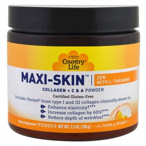 Country Life Maxi-Skin Zen with L-Theanine Mandarin Chamomile Flavor 3.5 oz
