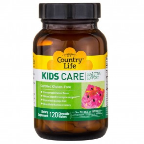 Country Life Kids Care Digestive Support 120 Chewable Watermelon Wafers