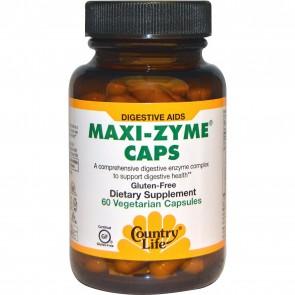 Country Life Maxi-Zyme Caps 60 Veggie Caps
