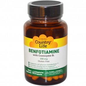 Country Life Benfotiamine with Coenzyme 60 Veggie Caps