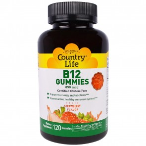 Country Life B12 Gummies Strawberry Flavor 120 Gummies