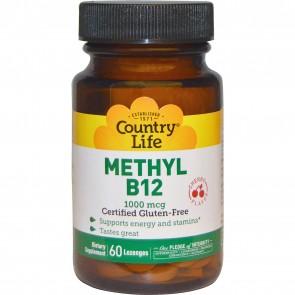 Country Life Methyl B12 Cherry Flavor 60 Lozenges