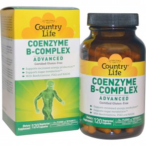Country Life Coenzyme B-Complex 120 Vegetarian Capsules