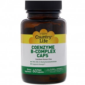 Country Life Coenzyme B-Complex Caps 60 Vegetarian Capsules