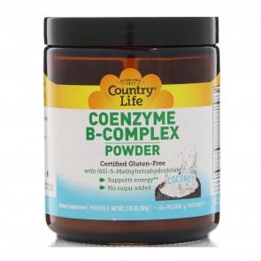 Country Life Coenzyme B-Complex Powder Coconut 1.95 oz