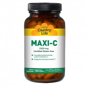 Country Life Maxi C 1000 mg 180 Capsules