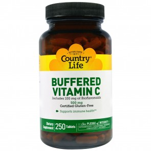 Country Life Buffered Vitamin C with Bioflavonoids 500 MG 250 Tablets