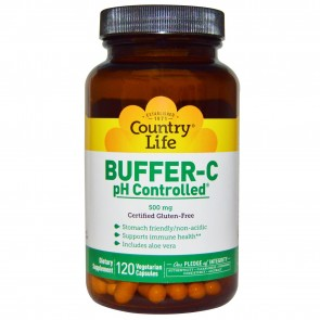 Country Life Buffer-C pH Controlled 500 mg 120 Veggie Caps