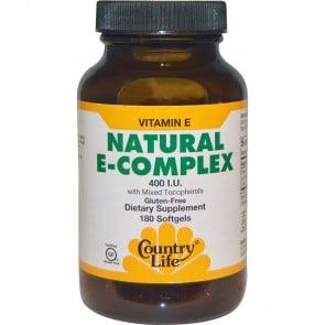 Country Life Natural Vitamin E Complex with Mixed Tocopherols 400 IU 180 Softgels